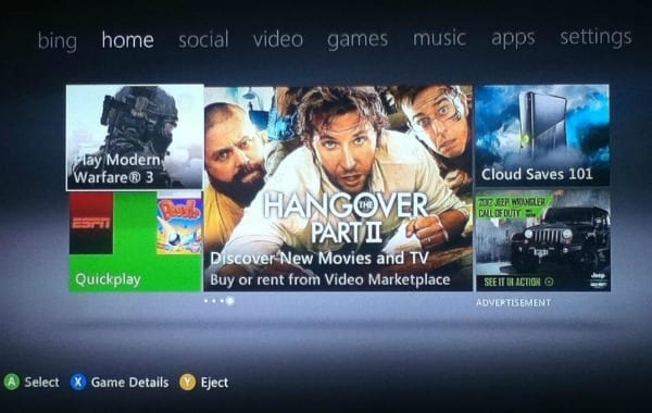 Updated XBOX LIVE Homepage