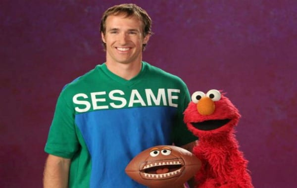 Drew Brees appears on Sesame Street