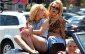 Iggy Azalea and Britney Spears Film a Music Video on Ventura Blvd  Pictured: Iggy Azalea, Britney Spears Ref: SPL994929  090415   Picture by: Photographer Group / Splash News  Splash News and Pictures Los Angeles:310-821-2666 New York:212-619-2666 London:870-934-2666 photodesk@splashnews.com