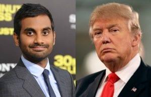 Aziz Ansari and Donald Trump
