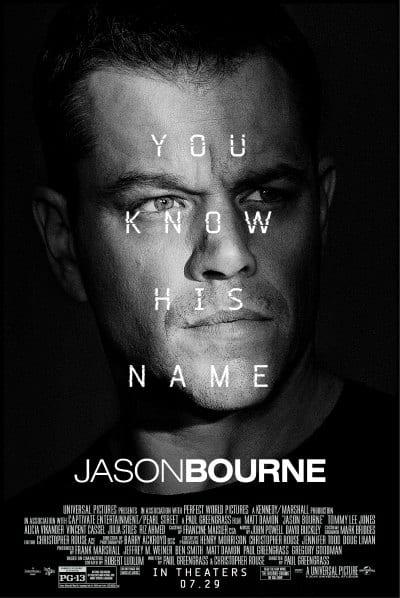 BOURNE starring Matt Damon Alicia Vikander Vincent Cassel and Tommy