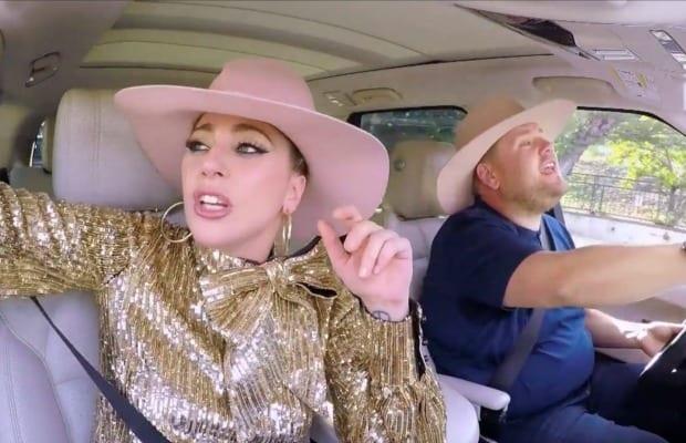 Watch: Lady Gaga Sings With James Corden On 'Carpool Karaoke'