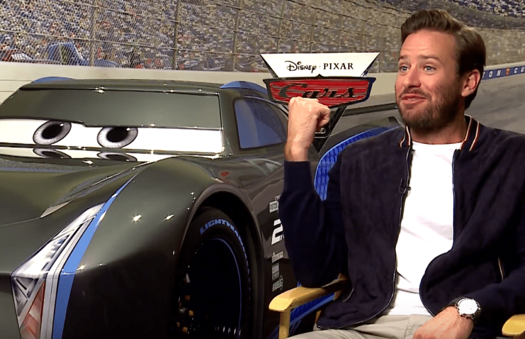 Armie Hammer Voices Rival Jackson Storm In Cars 3